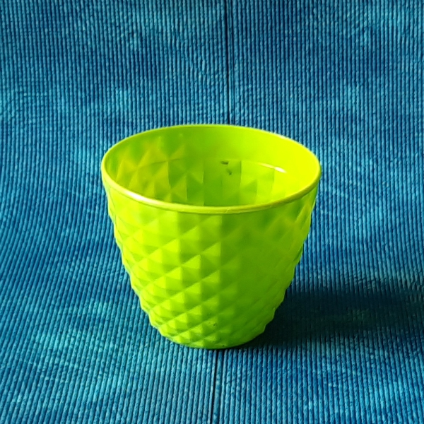 5 Inch (13 Cm) Grower Round Plastic Pot (Green)